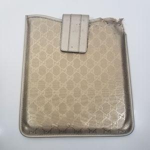 Authentic Gucci iPad case document holder damaged